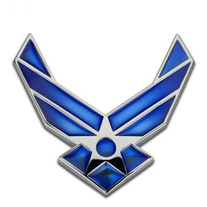 Araba Aksesuarları Çıkartmalar Otomobil Dekorasyon Sticker Düzeltme Metal USAF Araç Logosu Vücut Sticker Arka Logo Yan Logo Yaprak Paneli Sticker
