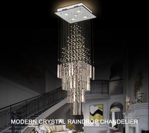 Lustre de cristal moderno para sala de estar colunar cristal lâmpada de suspensão quadrada base luminária luminária lustre candelabros