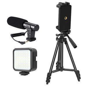 Telefon Video Vlog Kit Telefonhalterung Mikrofon Fülllichtkombination Set für VLOG Live-Aufnahme