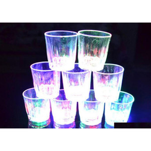 Led Flashing Glowing Cup Water Liquid Activated Light-up Wine Beer Glass Mug Luminous Party Bar Drink Cup Christmas P jllSZE eatout