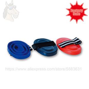25 2004a Curry Comp Brush PP PP Material com fitas para fixação de mão grande superfície dura 16.5 * 11cm cavalo Groomng Factory Venda direta