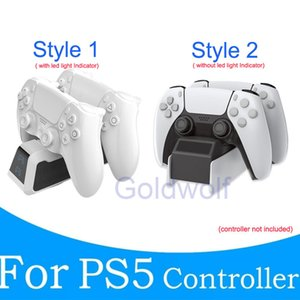 PS5 Controller Fast Charge Dock Mount Charging Stand Joystick Gamepad Dual Ports Charger For Playstation 5 Game Controllers Free Shipping