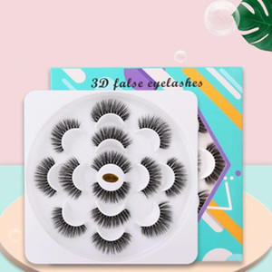 YioWio Handmade Makeup 7Pairs 3D Fluffy Lash Book Faux Fauc Cils Mink Eyelashes Bulk Natural Wispy False Strip Lashes Wholesale