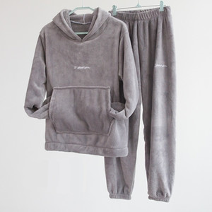 Autumn Hoodies and Long Pants Velvet 2 Two Piece Set Women Streetwear Loose Tracksuit Sweatsuit Baggy Woman Clothes Fall Y201128