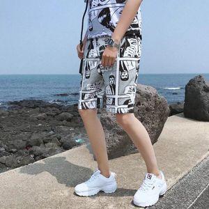 Men Casual Shorts Europe And America Hip Hop Sports Ins Shorts Summer Thin Section Loose Fit Harajuku Couples Fashion
