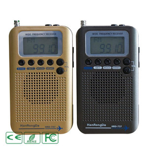 DRH-737 Affichage numérique LCD Full Band Radio Portable FM / AM / SW / CB / Air / VHF Bande mondiale stéréo Récepteur radio avec réveil