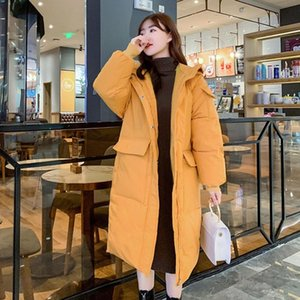 2020 Fashion Women Long Sleeve Hooded Cotton-Padded Jacket Outerwear Loose Winter Warm Solid Colors Coat Parkas Manteau Femme#g3