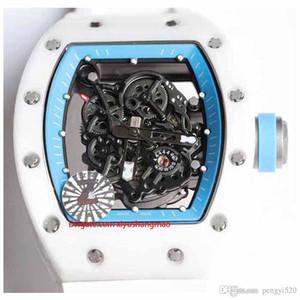 orologio RC48-15 progettista, disegno di scheletro, serie RM055, cassa in ceramica, movimento automatico, cinturino in gomma importato, fibbia pieghevole. multiplo