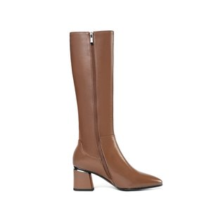 Hot Sale 2020 large size 33-45 winter keep warm knee high boots fashion pointed toe high heels shoes genuine leather women boots