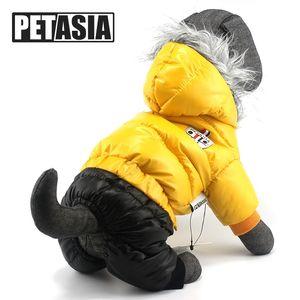 XXXL Große Hundekleidung Winter Hund Overalls Down Parkas für große große Hunde Wasserdichte Hundemäntel Jacken 3XL 4XL 5XL XXXL PETASIA Y200330