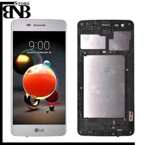 MS210 LCD per LG K8 2017 M200 M210 US215 Display Digitizer touch screen con telaio Assemblaggio completo Nero argento colore