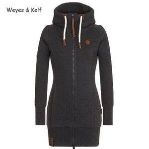Weyes Kelf S-5XL PLUS Taille à capuche à capuche à capuche longue à manches longues à manches longues 2019 Zipper FLIM VENDU SweatShirt Femmes Hoodie KPOP Y200706