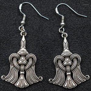 Viking Norse Raven Pendiente Odin Rune Huginn y Muninn Pendientes Joyería1