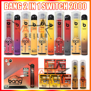 New Bang Pro Max Interruptor Descartável Vape Pen 2 em 1 Device 7ml Pods 2000 Puffs XXTRA Dupla Vape Kit