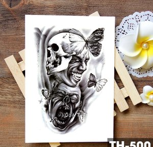 Cheap Temporary Tattoos Family Rose Time Clock Skull Temporary Tattoo Sticker Scorpion Tower Waterproof Tattoos Body Ar bbybCB sweet07