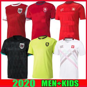 Suisse 2020 2021 Suiza Jerseys de fútbol Inicio Alejado Euro 20 21 Maillots Austria Selección Nacional Hombres Camisas de fútbol Tailandia Calidad