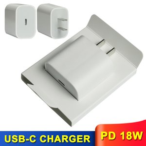 Fast USB-C Charger for iPhone 11 Pro Pro Max PD 18W EU US Plug with Retail Box Type-C Port Home Charging Adapter