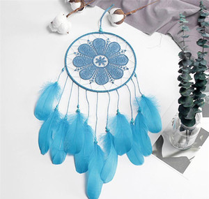 Hanging Pendant Feather Diy Chimes Art Wall Dream Hangings Handmade Bead Dreamcatcher Black Decorations Room Home Catcher Wind sqclE