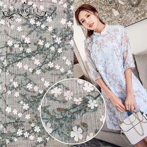 Stoff FFLACELL 1 YARD Flower Spitze Hohe Qualität Französisch Afrikanische Tüll Für Hochzeitskleid Breite 130cm1