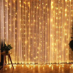 3x3 LED Icicle Fairy Light Plug EU Garland Curtain Led String Lamp Christmas Outdoor Indoor Decoration for Xmas Wedding Hallowen 201023