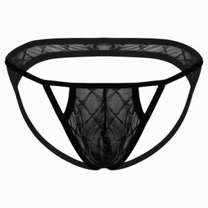 Mens Erotic Sexy Transparent Sissy Panties See Through Bulge Pouch G-String Briefs Underwear Low Rise T-Back Thongs Underpants