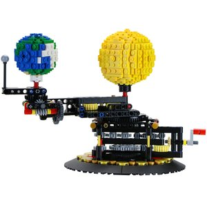 Building Blocks Compatible MOC-4477 Earth Moon and Sun Orrery Technic Bricks Gifts Fit lepining Diy Toy Christmas Gift Q1126