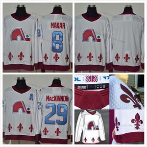 Colorado Avalanche 29 Nathan Mackinnon 2020-21 Jersey de hockey rétro inversé 8 Cale Makar Blank Mikko Rantanen Gabriel Landeskog 19 Sakic