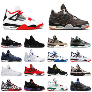 new 4 starfish mens basketball shoes 4s 2020 fire red cool grey black cat men trainer sports sneakers