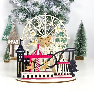 Creative Christmas Wood Splice Ornaments New Year 2020 Gifts Christmas Decorations for Home Navidad DIY Crafts Noel Decor Natal