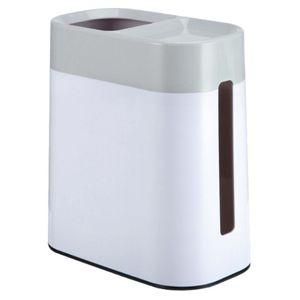 LEYIJIA Nordic Plain Multifunctional Two-In-One Bedroom Living Room Bathroom Office Desktop Trash Can Tissue Box (Gray)
