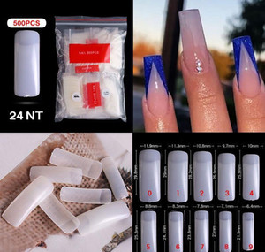 500pcs pack Natural Clear False Acrylic Nail Tips Full half Cover Tips French Sharp Coffin Ballerina Fake Nails Uv Ge sqccjl bdehair