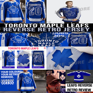 Toronto Maple Leafs Jersey 2020-21 Reverse Retro 91 John Tavares 34 Auston Matthew 16 Mitchell Marner 97 Joe Thornton Hockey Jersey