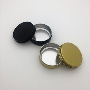 60g aluminum empty cosmetic container with lids 60ml small round lip balm tin solid perfume packaging jar sample bottle
