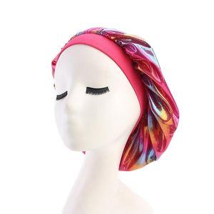 Caps Night Durag Satin Chemo Care Hats Bandana Cove Turban Hair Girls Accessories Head Women Cap Durags Silk Sleep Bath Hat Hair Bonnet Wqwf