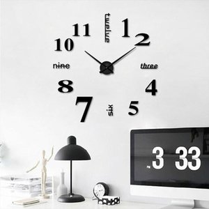 New Arrival Wall Clock Classic Frameless DIY Wall Clock Design Clocks Fashion Mirror Sticker Living Room Decor