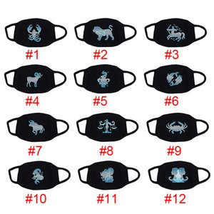 Constellation Fluorescent Mask Fashion Face Mask Maschera in cotone Reusable Face Masks Out Porta Sport Sport Maschere da equitazione Designer Face Mask GH1170