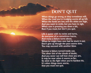 Catholic picture - DON'T QUIT Home Decor Handcrafts  HD Print Oil Painting On Canvas Wall Art Canvas Pictures 201121