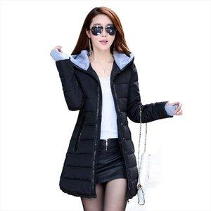 2020 Wadded Jacket Female New Womens Winter Jacket Cotton Slim Parkas Ladies Coat Plus Size M XXXL CC276