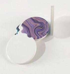 Sublimation Blank Car Ceramics Coasters 6.6*6.6cm Hot Transfer Printing Coaster Blank Consumables Materials free fast sea shippingEWC2829