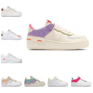 Nike Air Force 1 one airforce Shoes 2021 Herren Damen Plattform Mode Sneakers Shadow Beige Pale Ivory Forces Schwarz Weiß Fichte Aura Flamingo Mystic Navy Wheat Sports Sneakers