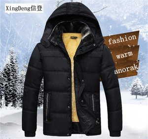 XingDeng 2020 New Hooded Casual warm fashion Jackets windcheater Sporting Mens thick 80s top Coat zipper clothes plus 3xl
