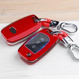 Carbon Fiber Car Keyfob Copertura Copertura Caso Shell Box Bag Portachiavi Accessori Adatta per Kia Optima Rio Forte Sorento Soul Sportage 2015-2018