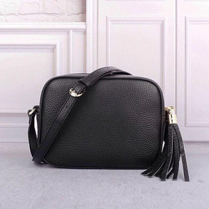 Hot Women Luxury real leather handbags designer purse tassel top quality crossbody bag soft small messenger bag soho disco bags