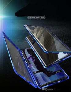 Магнитная адсорбция 360 полный закаленный стеклянный корпус для Samsung Galaxy Note 10 Примечание 20 Ультра S10 S20 Ультра A70 A30 A20 A10 S9