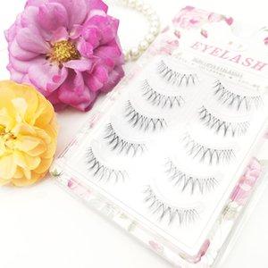 Handmade Natural False Eyelashes Sharpen Eyelash High Quality 3 Pairs Fashion Eyelashes Cross Eye lashes