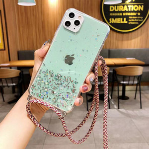 Gradient Glitter Star Phone Case With Ring For iPhone 12 Mini 11 Pro Max XR X XS 7 8 Soft Clear Phone Cover