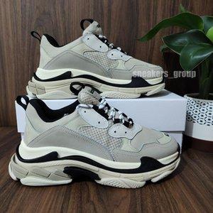 Hombres de primera calidad Mujeres Blanco Negro Pink Pink Triple Bajo Hacer Sneaker Old Solar Soles Botas Para Hombre Zapatos Para Mujeres Deportes Zapato Casual Chaussures