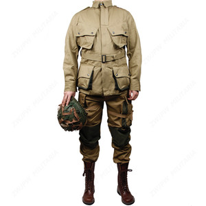 WWII WW2 US Army M42 Uniform 101 Air Force Paratroopers Troops Suits Tactical Outdoor Jacket &Pants US 501101 No shoes helmet Q1202