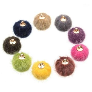 15MM 10PCS Bag Faux Pom pom DIY Earring Fashion Cute Pompoms Balls for Keychain Hat Bags Hair Scarves Accessories1