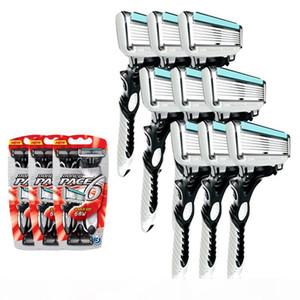High Quality Dorco Razor Men 9 Pcs lot 6-layer Blades Razor For Men Shaving Stainless Steel Safety Razor Blades J190718